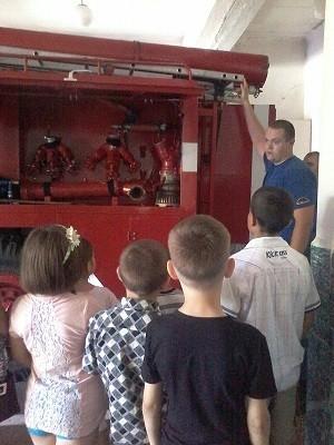 Экскурсии в пожарно-спасательную часть