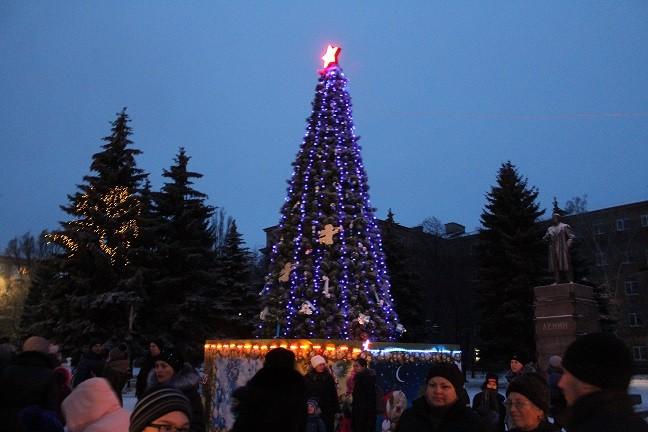 Открытие Главной новогодней елки города Ясиноватая