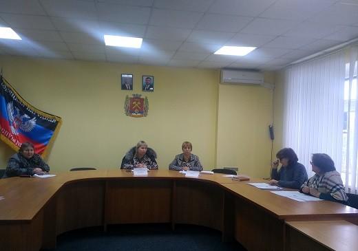 Заседание комиссии по проверке организации питания в учреждениях образования Администрации города Ясиноватая