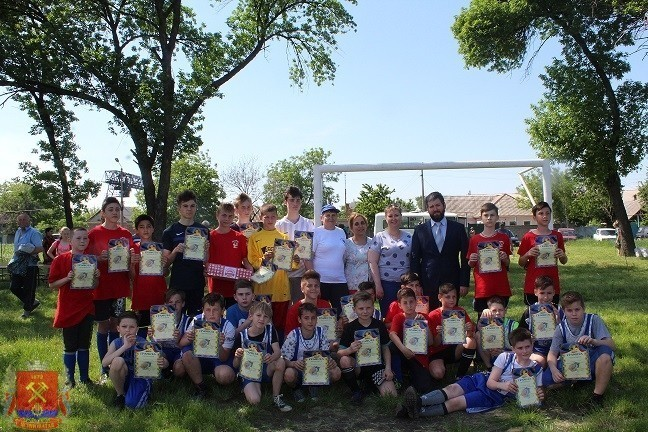 Праздник футбола в городе Ясиноватая