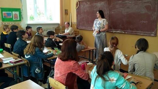 Начальник Ясиноватского управления юстиции провела мероприятие для школьников