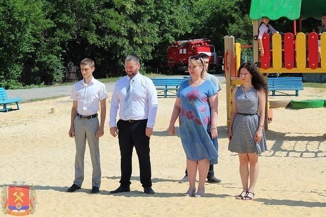 Открытие футбольного поля и детской площадки по улице Полтавская