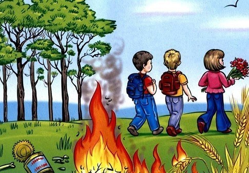 ГПСО г. Ясиноватая напоминает! Детская шалость с огнем – частая причина пожаров!