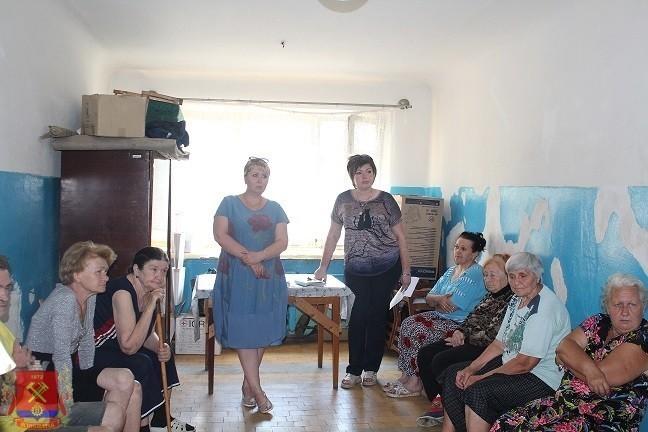 Встреча с переселенцами поселка Крутая Балка