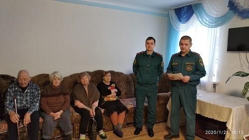 Профилактическая беседа с жителями Территориального центра (отделения постоянного и временного проживания) г. Ясиноватая
