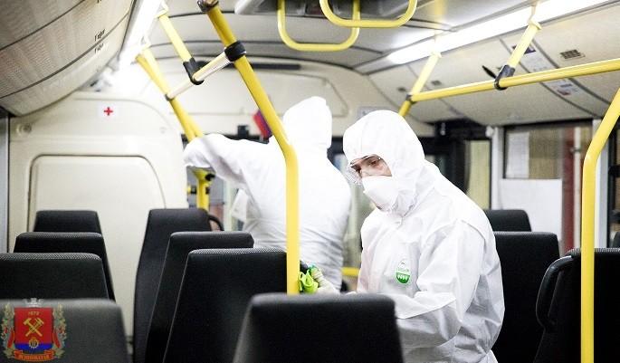Специалистами администрации города Ясиноватая взяты на особый контроль мероприятия по дезинфекции автобусов