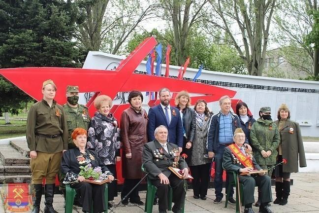 Поздравление ветеранов Великой Отечественной войны города Ясиноватая