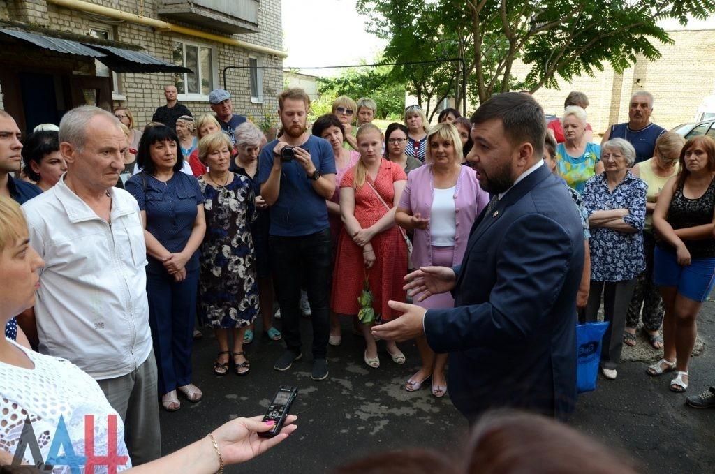 Пушилин пообещал жителям Ясиноватой до осени возобновить работу лифтов после 6 лет простоя