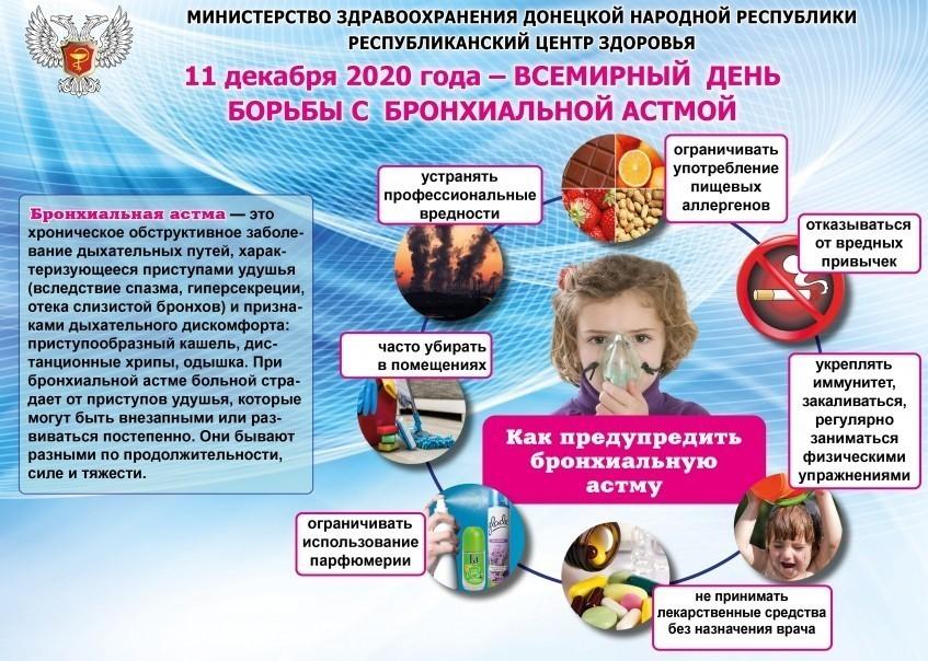 11 декабря 2020 года - Всемирный день борьбы с бронхиальной астмой