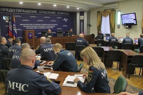 В МЧС провели штабную тренировку по ликвидации чрезвычайных ситуаций
