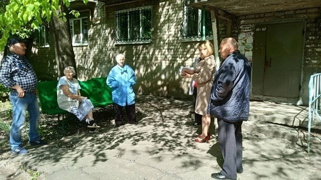 Сход граждан с жителями квартала 55