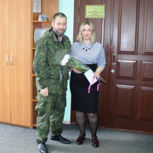Поздравление начальника отделения ЦРБ ДНР с днём банковского работника!