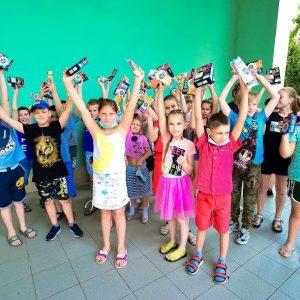 Дети из Ясиноватой на премьерном показе спектакля