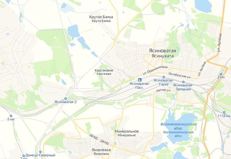 карта земляные участки Ясиноватая