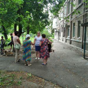 Сход граждан с жителями ул. Школьная