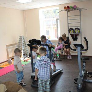 Открытие спортивного зала для детей с ограниченными возможностями