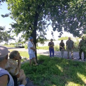 Сход граждан в с. Яковлевка на улице Колхозная