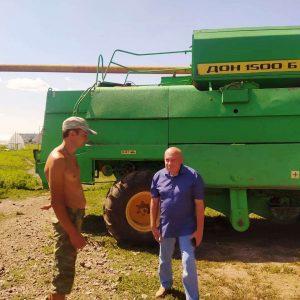 В Ясиноватском районе продолжается уборка урожая!