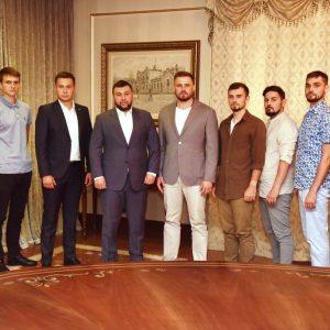 Денис Пушилин встретился с представителями молодежных организаций ДНР и России