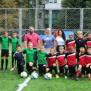 Открытие футбольной площадки на «Зорьке»