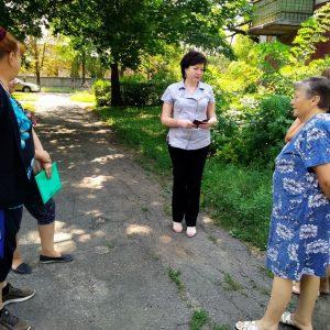 Сход граждан с жителями улицы Лермонтова, дом 9.