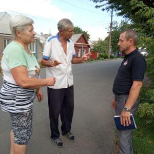 Сход граждан с жителями улицы Октябрьская, дом 95