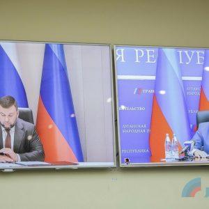 Денис Пушилин и Леонид Пасечник подписали межгосударственный договор