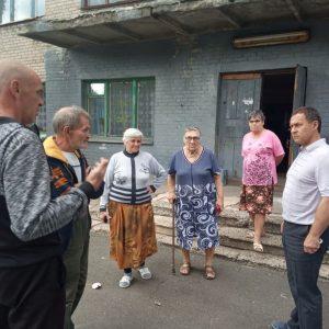 Встреча спереселенцами пос. Крутая Балка в общежитии №4