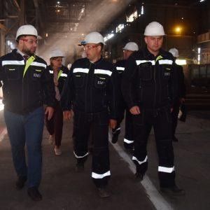 Глава ДНР посетил перезапущенный металлургический завод в Енакиево