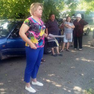 Cход граждан жителей с главой Спартаковской сельской администрации