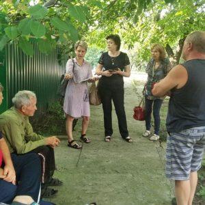 Сход граждан с жителями улицы Энгельса