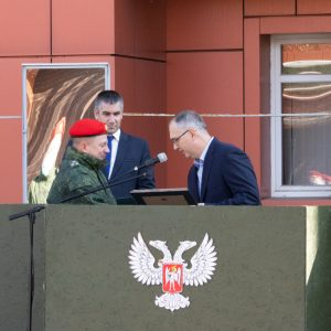 Владимир Бидёвка поздравил военнослужащих Отдельного Краматорского комендантского полка с семилетием подразделения